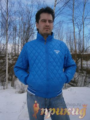 Голубая куртка Armani