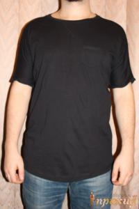 Чёрная футболка с нагрудным кармашком PIAZZA ITALIA MAN