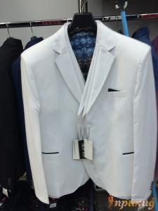 Пиджак укороченный, приталенный белый Philipp Plein