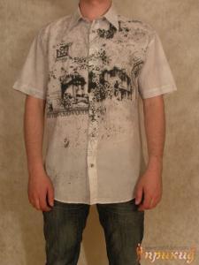 Рубашка белая с апликациями Doramafi