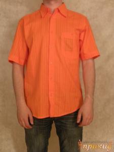 Рубашка оранжевая летняя - DIEGO