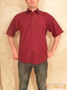 Бордовая рубашка Robarto Bartoloni