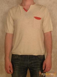 Рубашка с красным кармашком и воротником Seriano by Seir