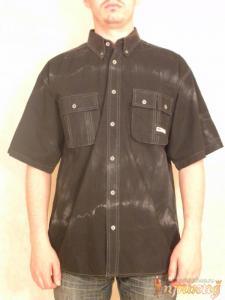 Рубашка с разводами, справа карман, слева двойной карман PACIFICO