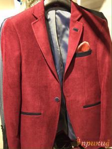Пиджак красный с чёрными вставками ARMANI