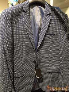 Пиджак в белую крапинку Massimo Dutti