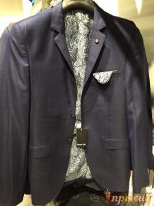 Пиджак синий Massimo Dutti на двух пуговицах