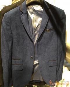 Пиджак синий на одной пуговице EMPORIO ARMANI
