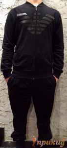 Чёрный спортивный костюм GEORGIO ARMANI