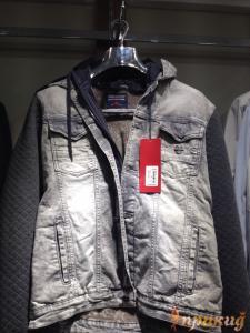 Куртка серая джинсовая со стрейчем DSQUARED