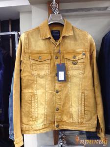 Жёлтая джинсовая куртка ARMANI JEANS