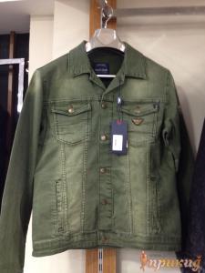 Куртка зелёная джинсовая ARMANI JEANS