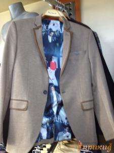 Пиджак,укороченный,приталенный на одной пуговице, бежевый ARMANI
