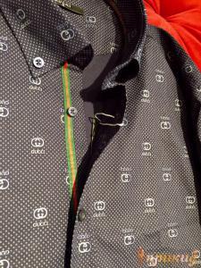 """Бордовая и чёрная приталенные""""Slim Fit"""" рубашки GUCCI"""
