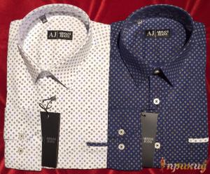 Белая и синяя рубашка ARMANI JEANS