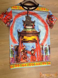 Футболка Dolce&Gabbana разноцветная с китайским узором