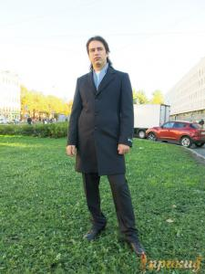 """Черное пальто """"Boldman"""""""