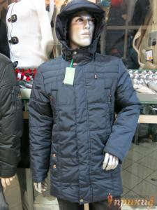 Куртка HUGO BOSS тёмно-синего цвета на двойном синтепоне.