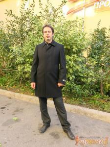 """Чёрное пальто мужское """"Boldman"""""""