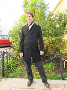 """Пальто темно-серое """"BOLDMAN"""""""
