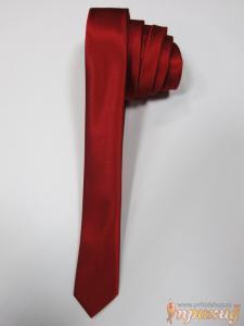 Галстук красный, узкий