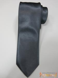 Серый однотонный галстук