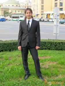 """Мужской классический костюм """"MADLEN"""",черного цвета."""