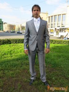 """Серый деловой костюм """"Pierre Alberto"""""""