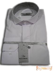 Белоснежная рубашка под бабочку PIERRE MARTIN