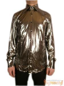Рубашка светло-серебряная