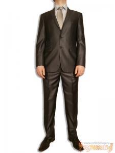 Сине-серый классический костюм GIOBERTI с двойным карманом справа и одним слева.