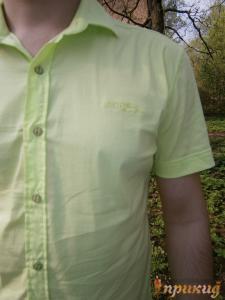 """Салатовая летняя рубашка """"GUANTO"""""""