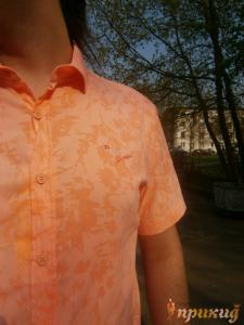 "Коралловая летняя рубашка ""GUANTO"""