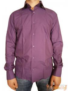 Сиреневая приталенная рубашка Pierre Martin,с запонками (Slim Fit).