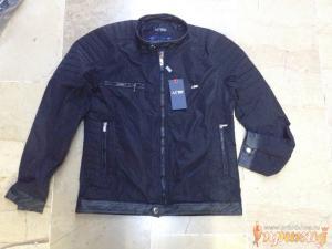 Черная куртка ARMANI JEANS с воротником стоечкой