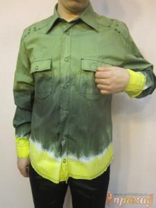 Рубашка Зелено-Желтая