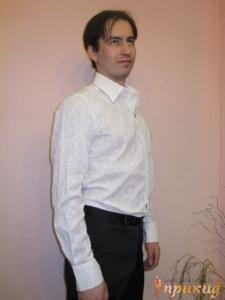 Рубашка белая в цветочек