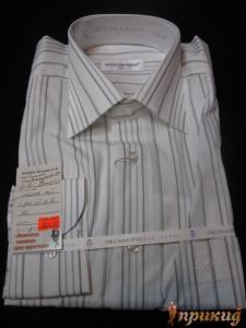 Белая сорочка в широкую полоску