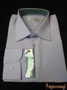 Рубашка небесного цвета Del Pierro
