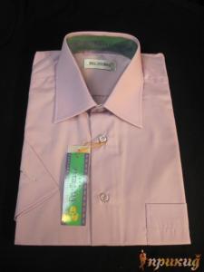 Рубашка розово-сиреневая Del Pierro
